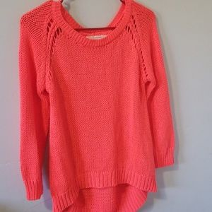 Coral Zara knit sweater nwot